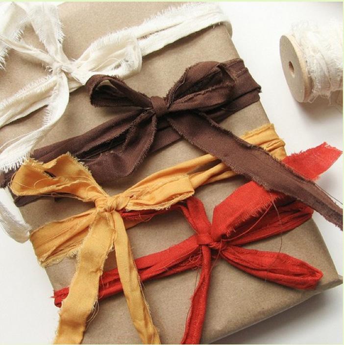 Украшение подарка к Новому году