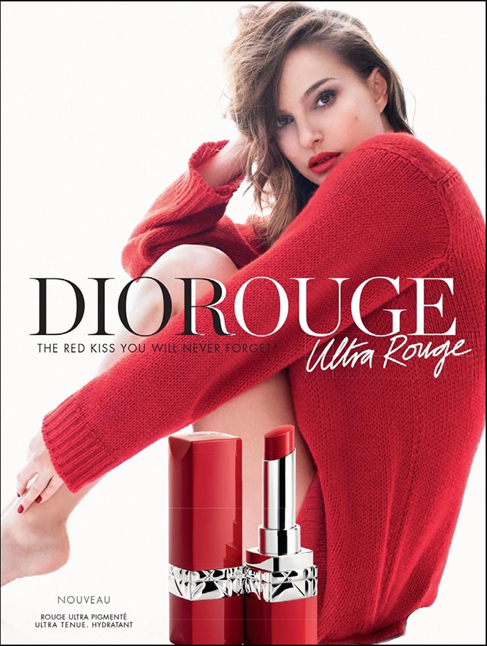 Натали Портман в рекламе Rouge Dior Ultra Rouge