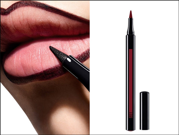 Как наносить помаду Rouge Dior Ultra Rouge с лайнерами Dior Rouge Ink Lip Liner