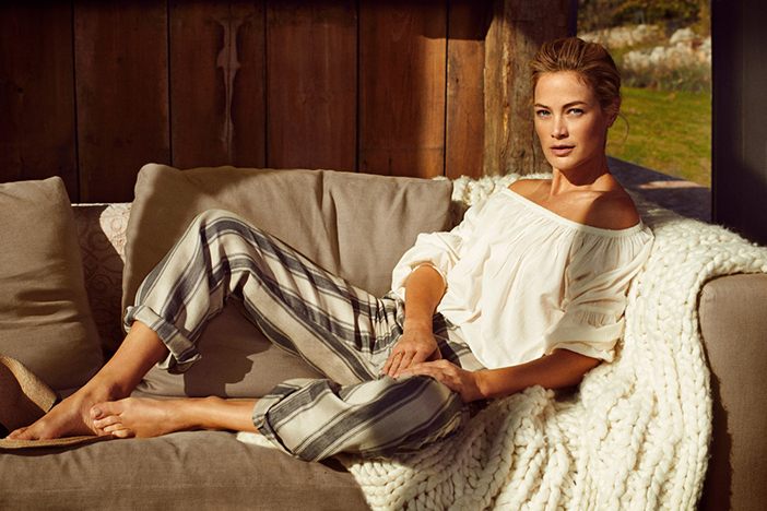 Carolyn Murphy for Stefanel Spring Summer 2016 Кэролин Мерфи для Стефанель