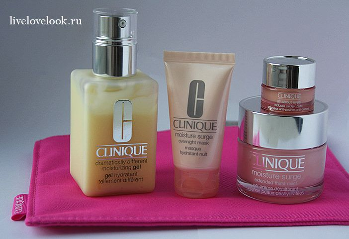 Обзор средств от Clinique: набор Moisture Overload Set и гель Dramatically Different Moisturizing Gel